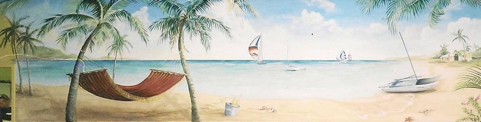 Beach Mural 2 at Spinnakers CC