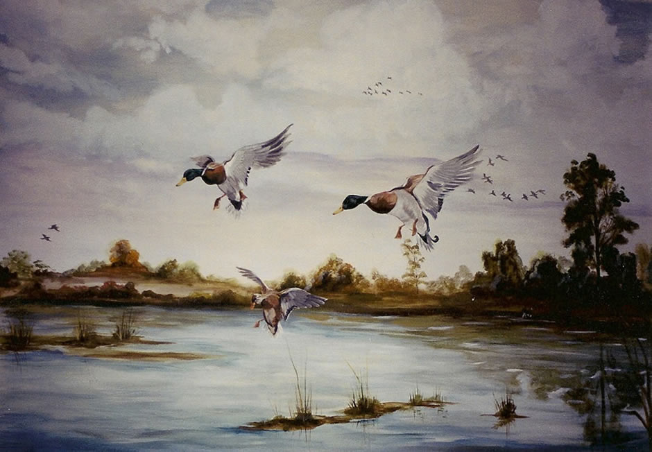 Natalea rheas 39 personal touch for Duck hunting mural