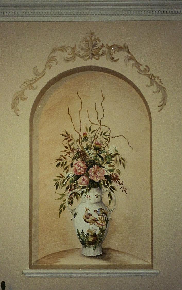 Niche Vase Mural